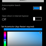 Central Search for Windows Phone Settings