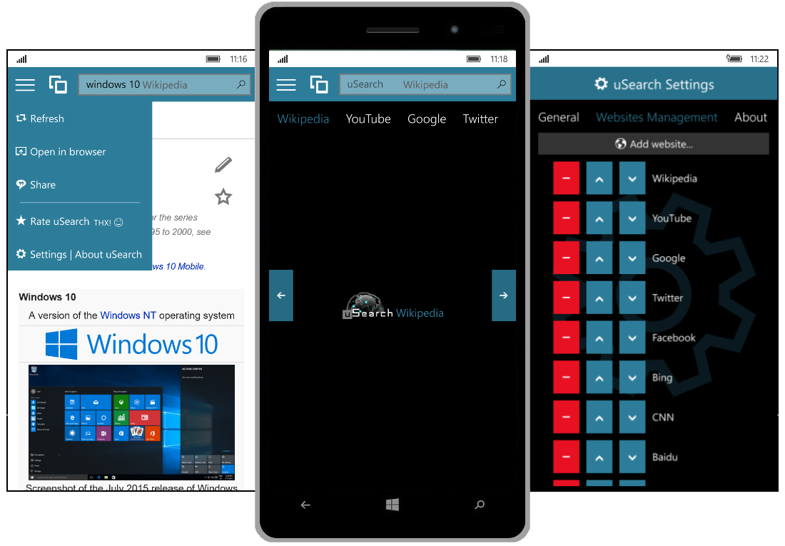 uSearch for Windows 10